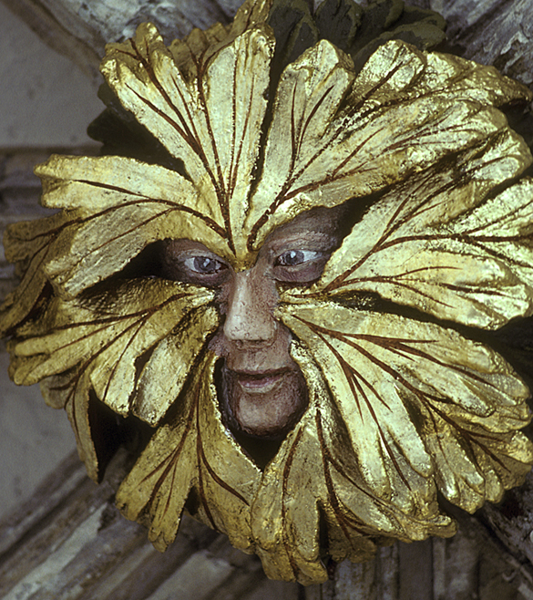 A Gothic Green Man from the cloister of Norwich Cathedral