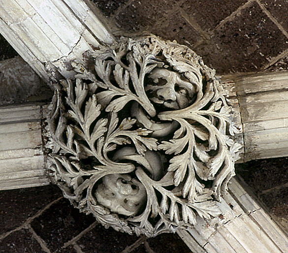 A Green Man from the retro-choir of Exeter Cathedral