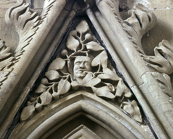 Disgorging Green Man, Southwell Minster.