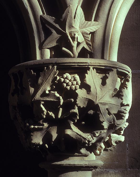 Vine leaves, Southwell Minster.