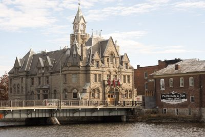 Historic architecture near water