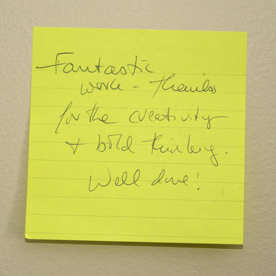 post-it note comment