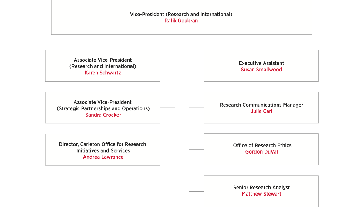 Vice-President (Research and International) Organizational Chart