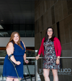 Picture of Jenna Lambert, Student Advisor, and Amanda Hodgson, Business Coordinator