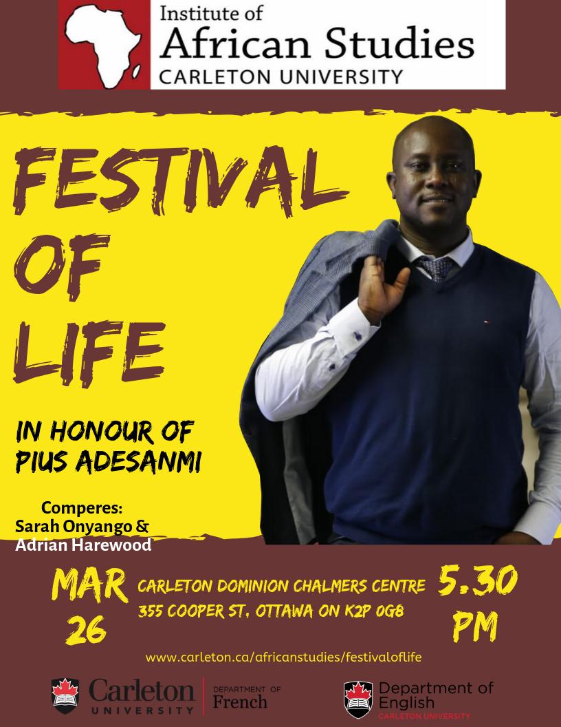 Festival of Life in honour of Pius Adesanmi