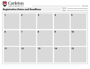 View Quicklink: Registration Dates and Deadlines