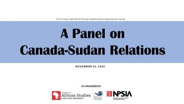 Thumbnail for: A Panel on Canada Sudan Relations