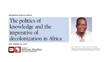 Thumbnail for: The Politics of Knowledge and the imperative of decolonization in Africa