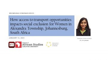 Thumbnail for: Transport justice in South Africa – mapping the gendered impact of transport policy in Alexandra, Johannesburg, South Africa