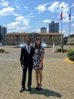 Efrem and Sanda at KICC