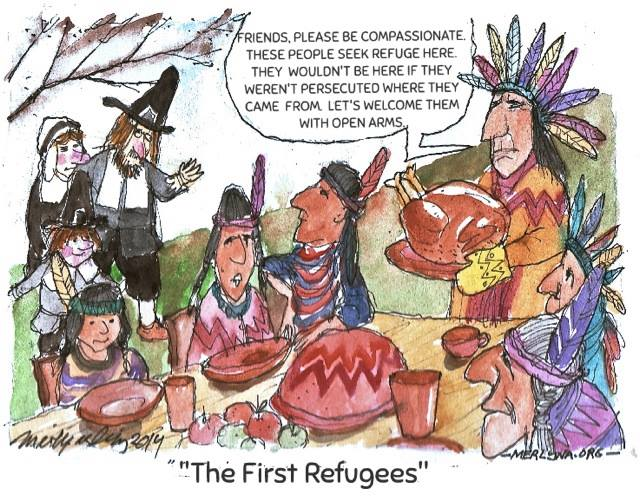The First Refugees - by merlynalim, 2016
