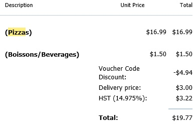 Honey Discount Code with Pizza Receipt