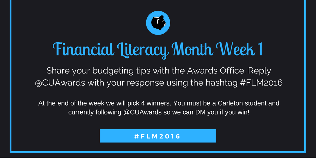 Financial Literacy Month Week 1 Contest
