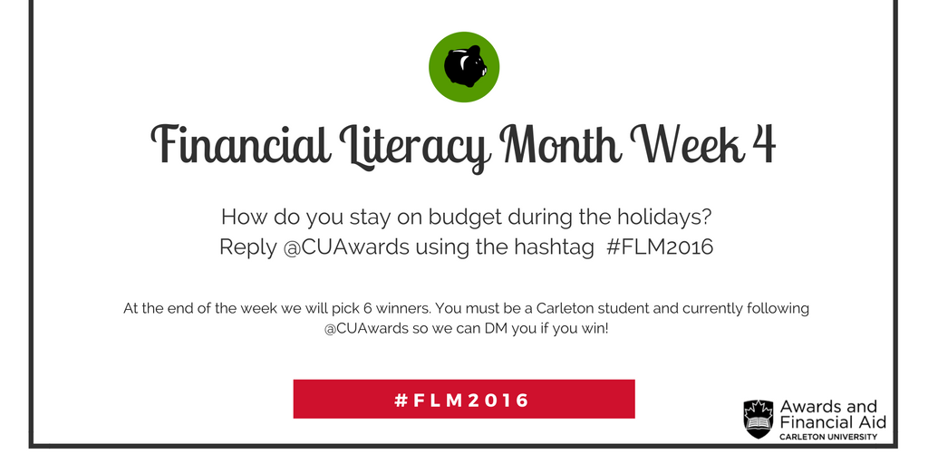 Financial Literacy Month Week 4 Contest
