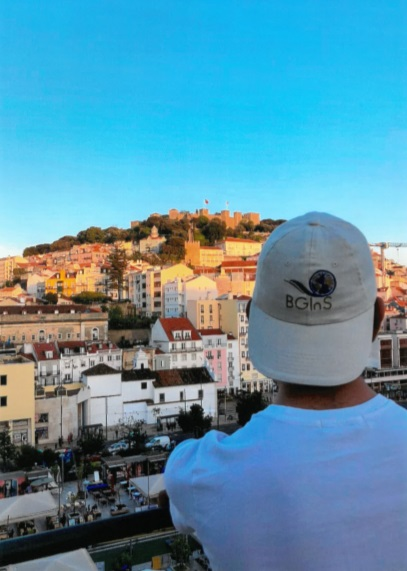 Image of a student looking over skyline of Lisbon, Portugal while on International Placement