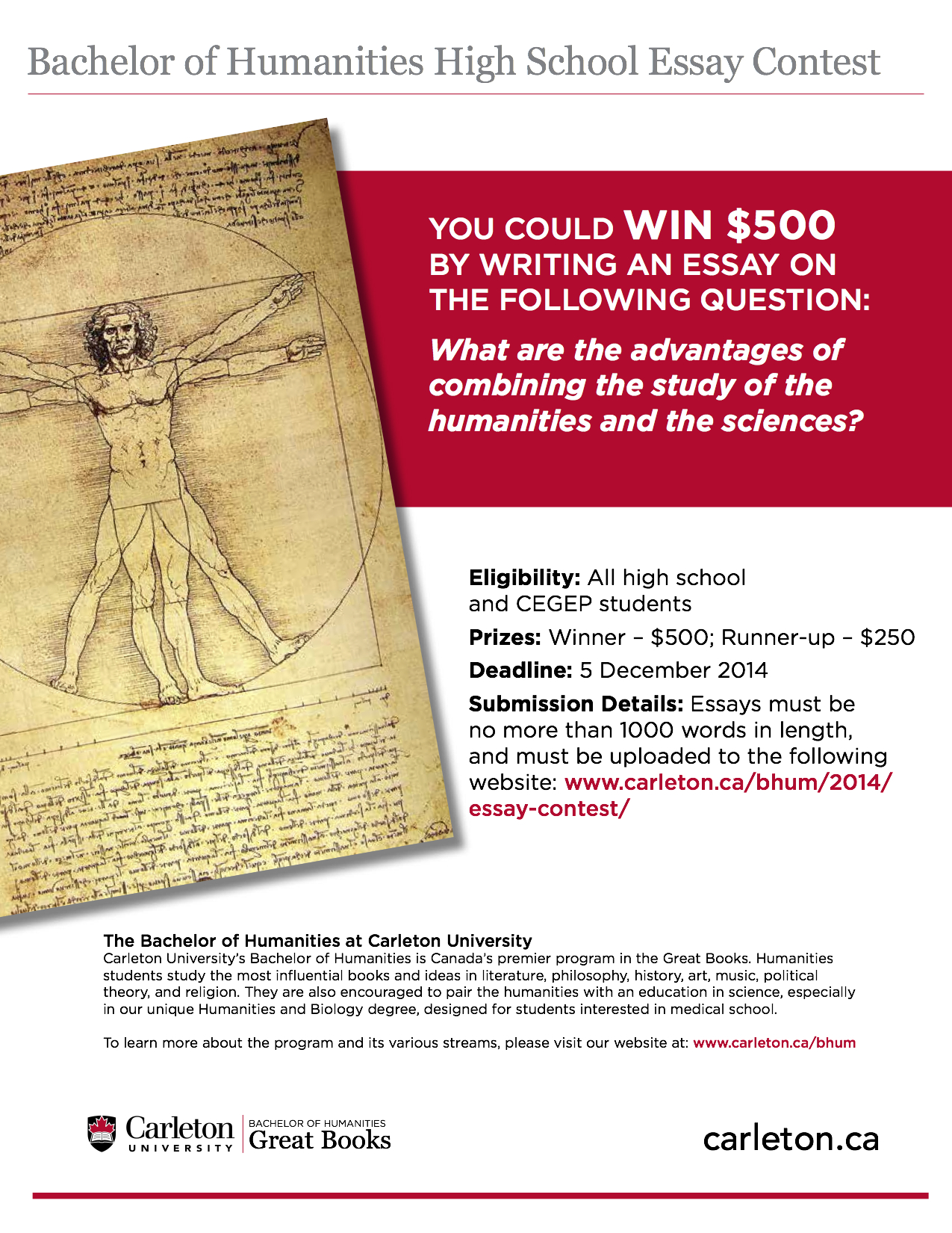2014 bachelor of humanities high school essay contest