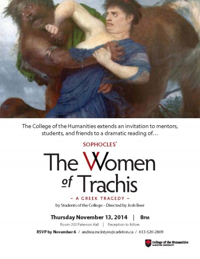 women of trachis poster