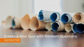 Thumbnail for: Creating a Quiz with a Random Set of Questions