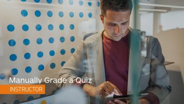 Thumbnail for: Manually Grade a Quiz