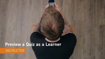 Thumbnail for: Previewing a Quiz