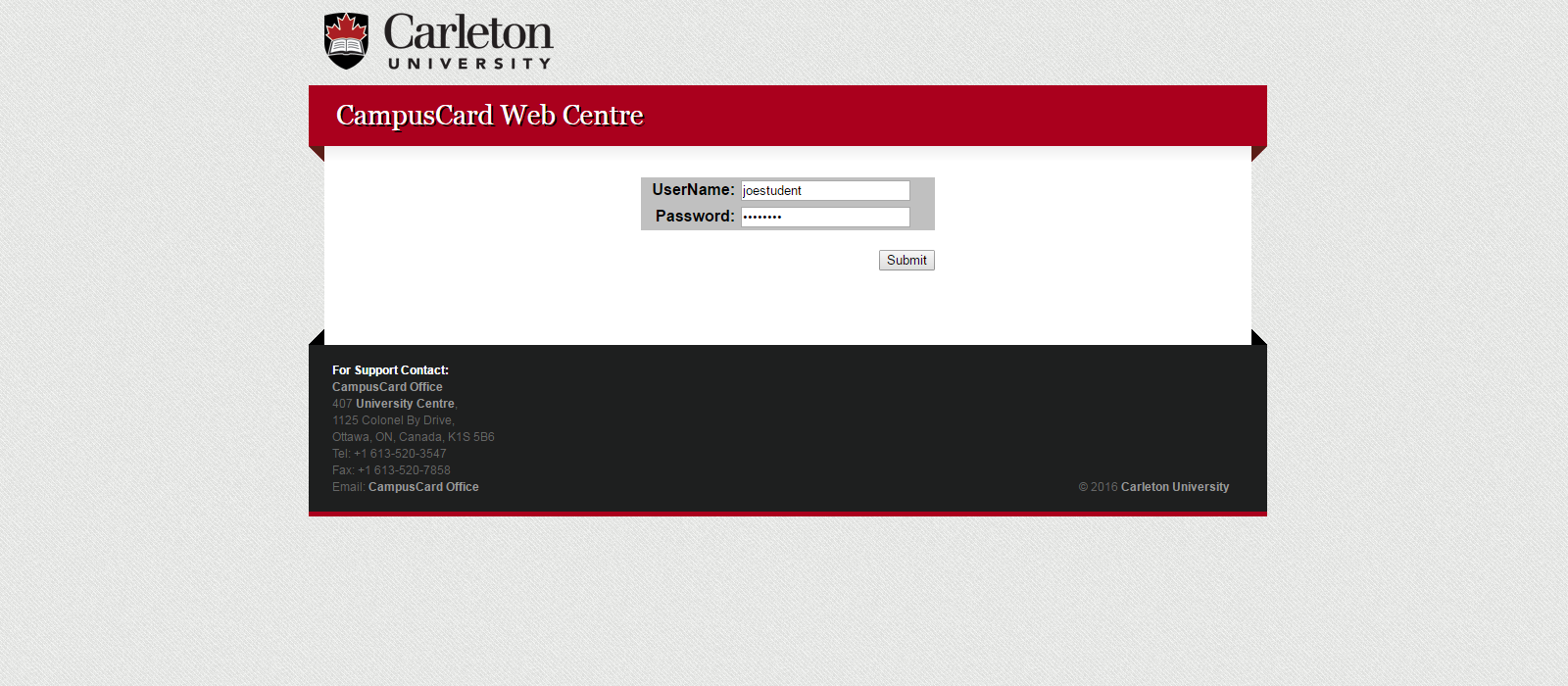 Banner image for Web Card Centre