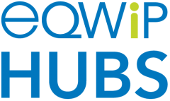 Photo of the EQWIP HUBs logo