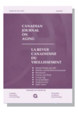 Cover of Canadian Journal on Ageing