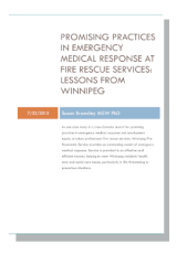 Cover for Promising Practices in Emergency Medical Response