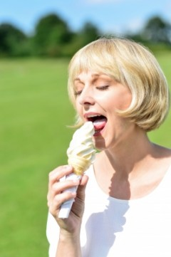 eating icecream