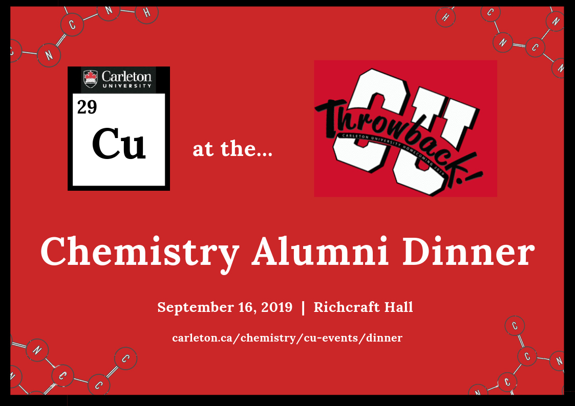 chem alumni dinner poster with date and location