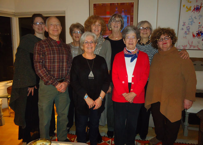 Front: (left to right) Nathan Weinstock, Mina Cohn, Elly Bollegraaf, Batia Winer | Back: Nathalie Sirios, Marion Silver, Minda Chaikin, Joyce Bellman, Hilda Bleyer | Missing from the photo are Dr. Art Leader, Judy Young Drache and Elise Bigley.