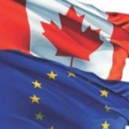 EU and canadian flag