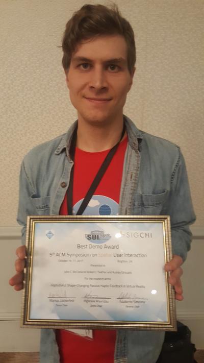 John McClelland wins Best Demo at DIS 2017