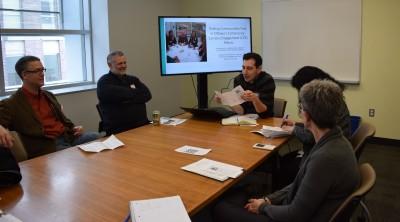 Jason Garlough presents on Ottawa's brokerage mechanism at Carleton's Community Engagement Event.
