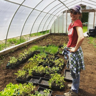 While partnering with Abbey Gardens, Melissa Johnston experienced sustainable farming first hand. Photo credit: Abbey Gardens.