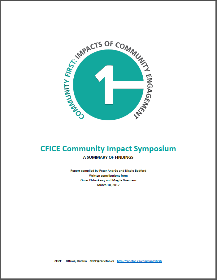 Title page of the CFICE Symposium Report