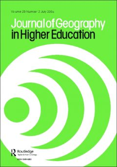 Cover page of the Journal of Geography in Higher Education.