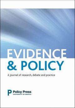 Evidence and Policy journal cover.