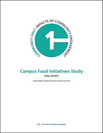 Cover page of the Campus Food Initiatives Study report.