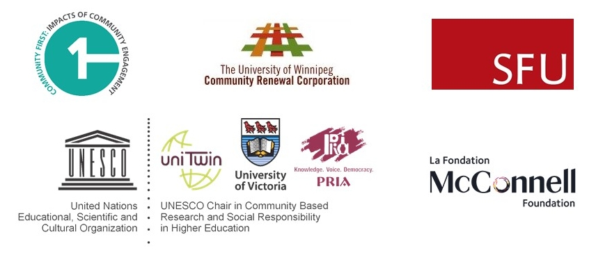 Logos of webinar co-sponsors: CFICE, the CCEC, SFU, UWCRC, McConnell Foundation and the Unesco Chair.