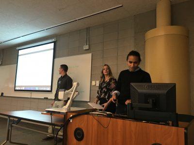 CFICE RAs Aaron Kozak, Amanda Lafrancois, and Omar Elsharkawy present at CACSL Conference 2016.