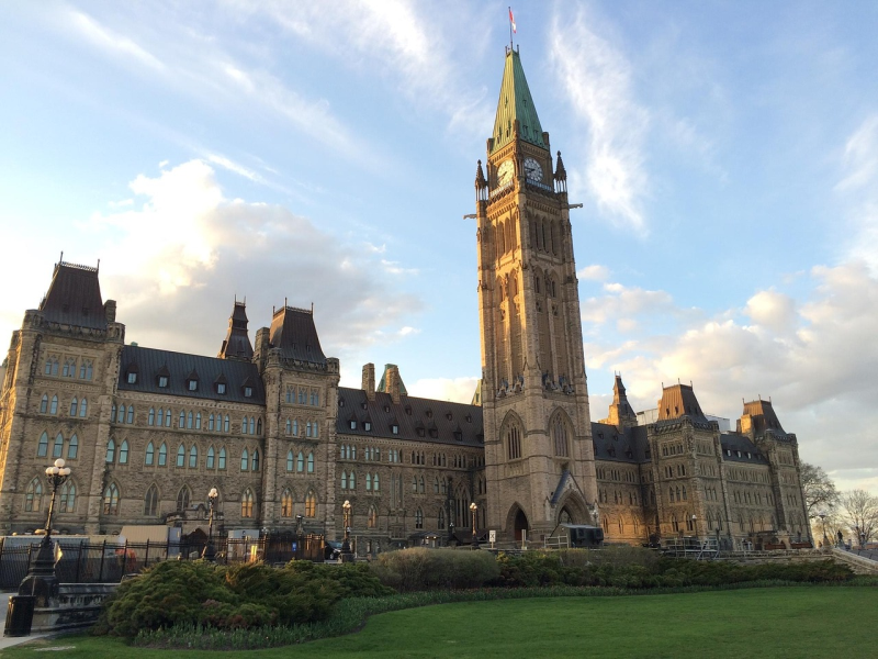 Canada's centre block parliament building.