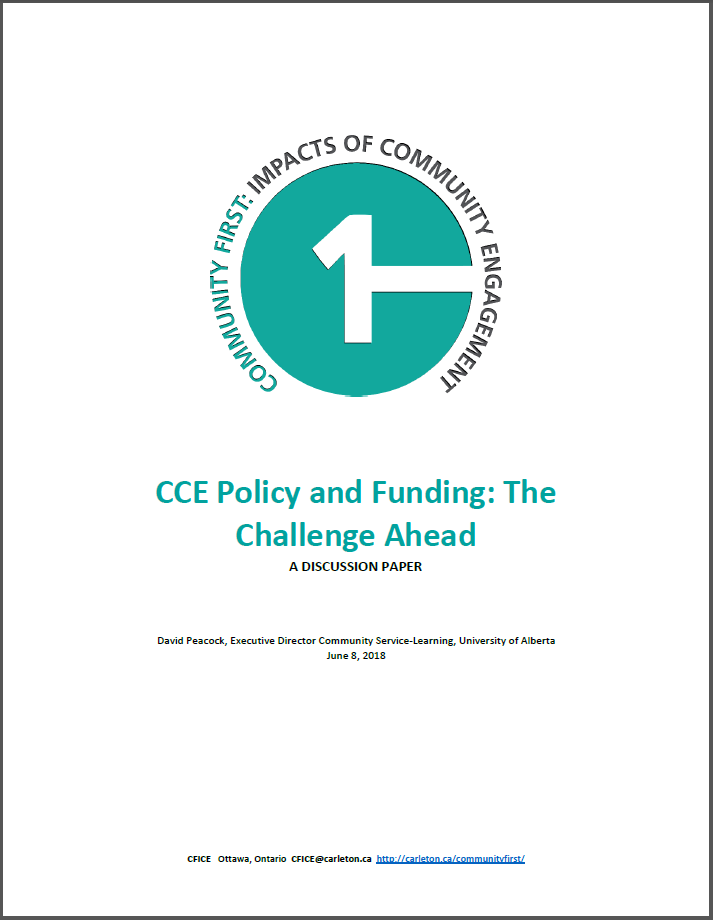 Title page of discussion paper titled: CCE Policy and Funding: The Challenge Ahead