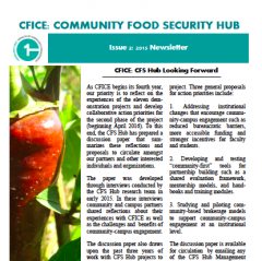CFS Newsletter CFICE Food Security