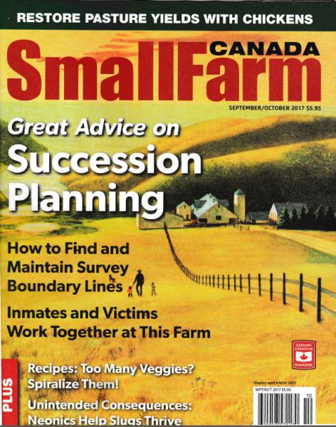 Small Farm Canada Magazine Cover