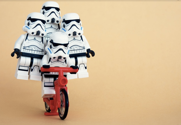 Storm Troopers on a Bike