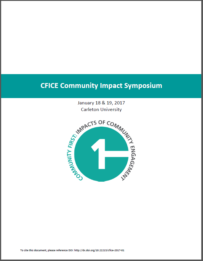Title page of CFICE Evaluation Synthesis Backgrounder, prepared for CFICE's January 2017 Symposium.