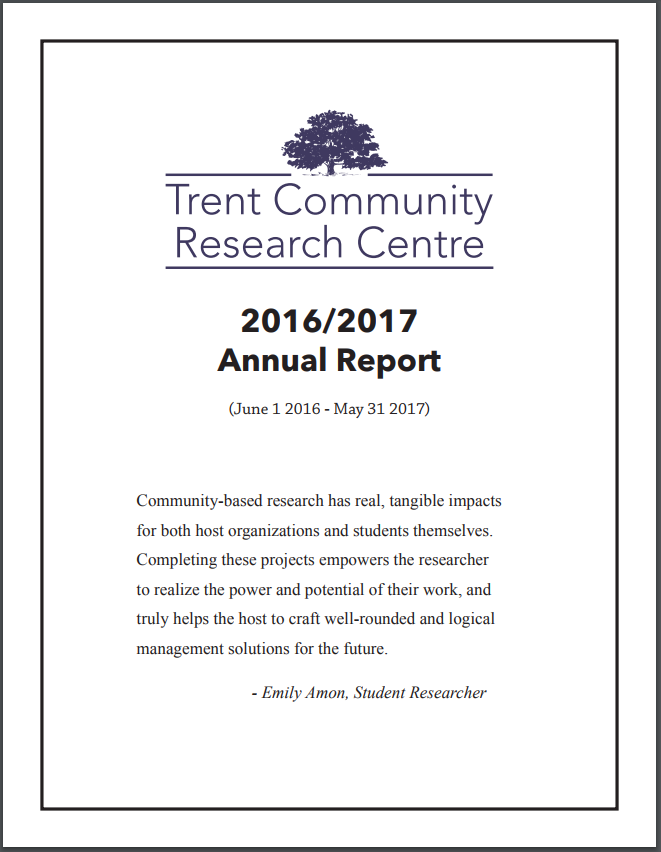 TCRC Annual Report title page.