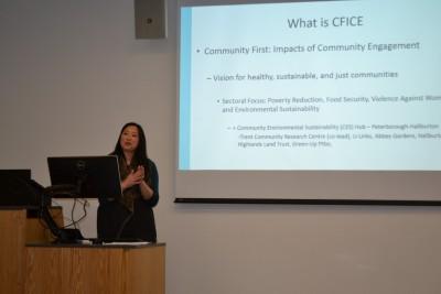Nadine Changfoot, CFICE's CES (Ptb/Hbtn) Academic Co-lead, presents at the Trent University MASS program Colloquium (January 2016).