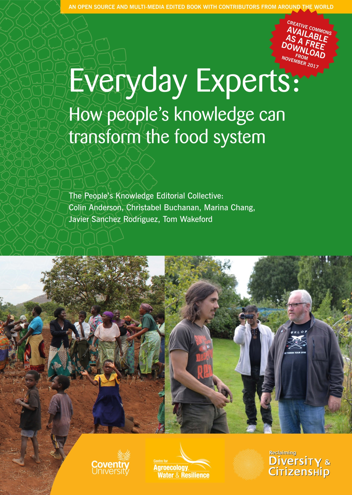 """Cover page of the book """"Everyday Experts: How people's knowledge can transform the food system."""